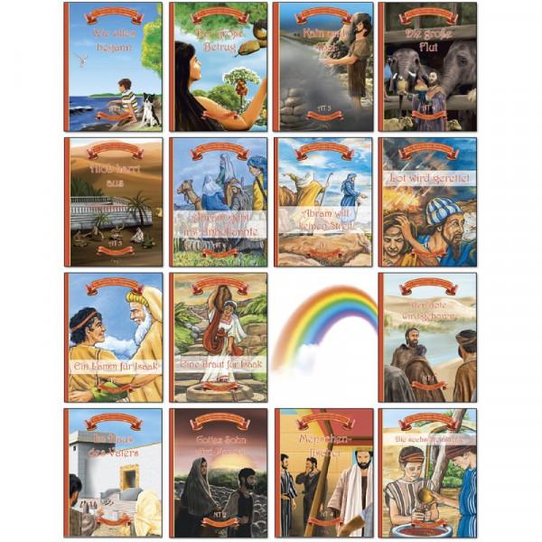 Regenbogen-Kinderbibel Set 1-15